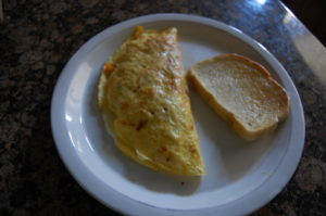 omelette with leftover filling