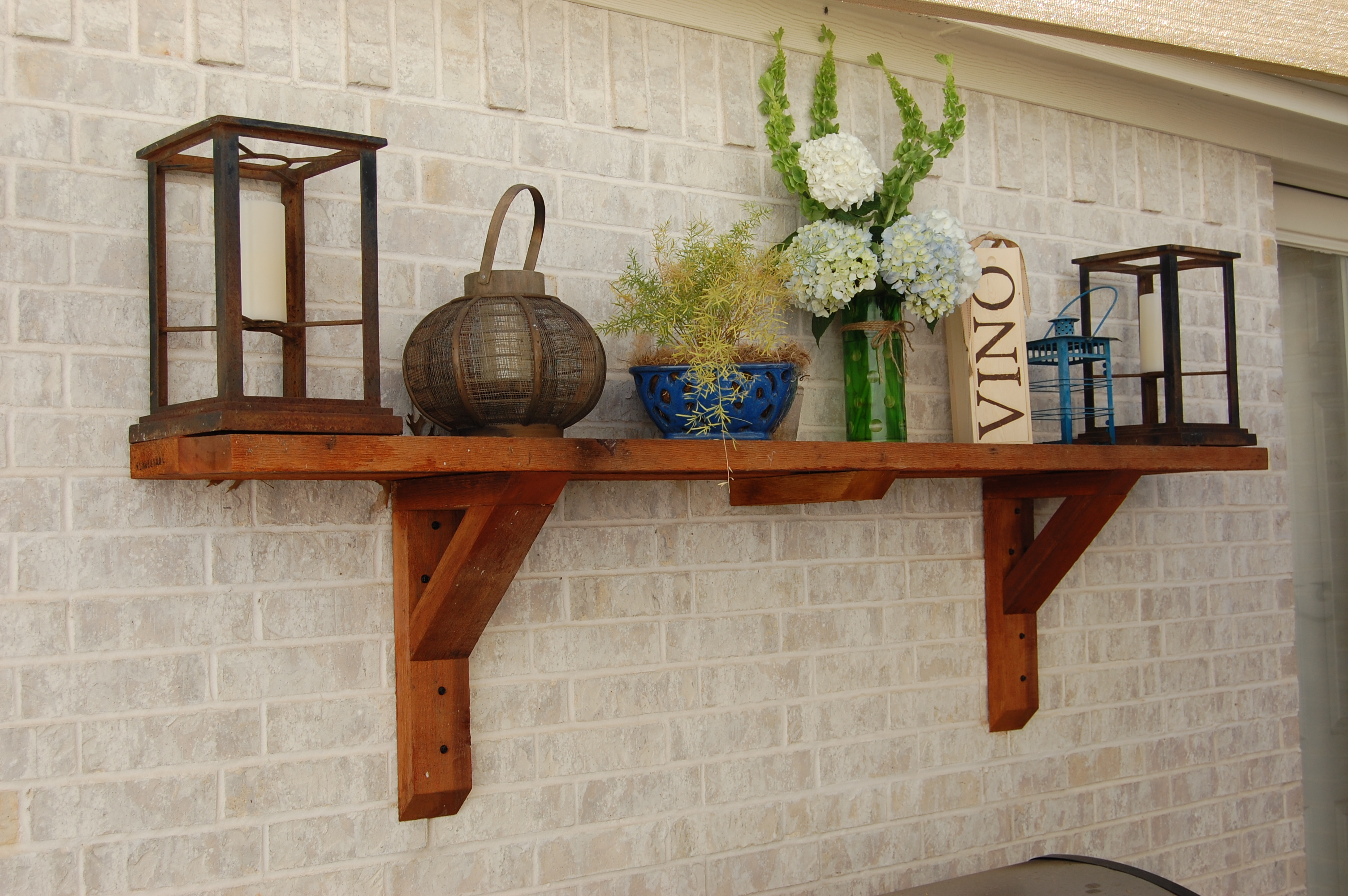 Patio Shelves Make any Patio like an outdoor room -