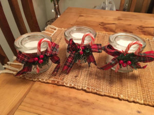 Handmade Teacher gift - christmas candles