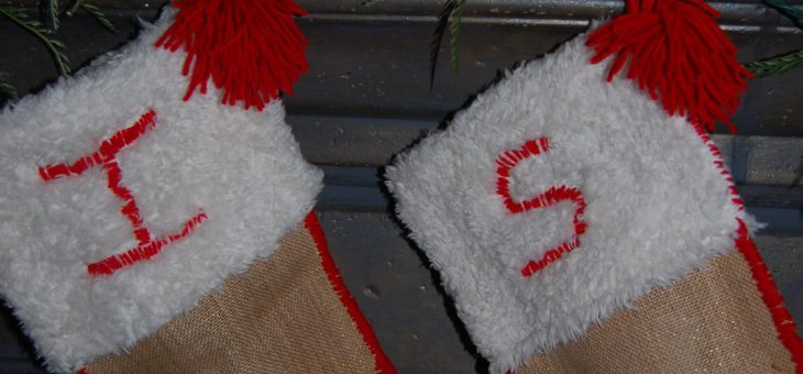 Handmade Stockings from recycled material