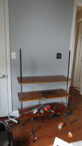 Continue adding shelves