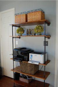 Finished modern industrial shelves