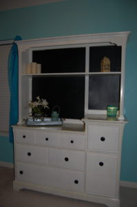 Finished hutch chalkboard