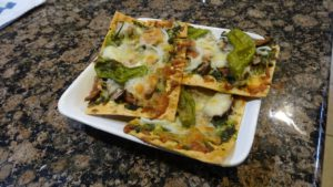 Fully cooked vegan flatbread - yummy!