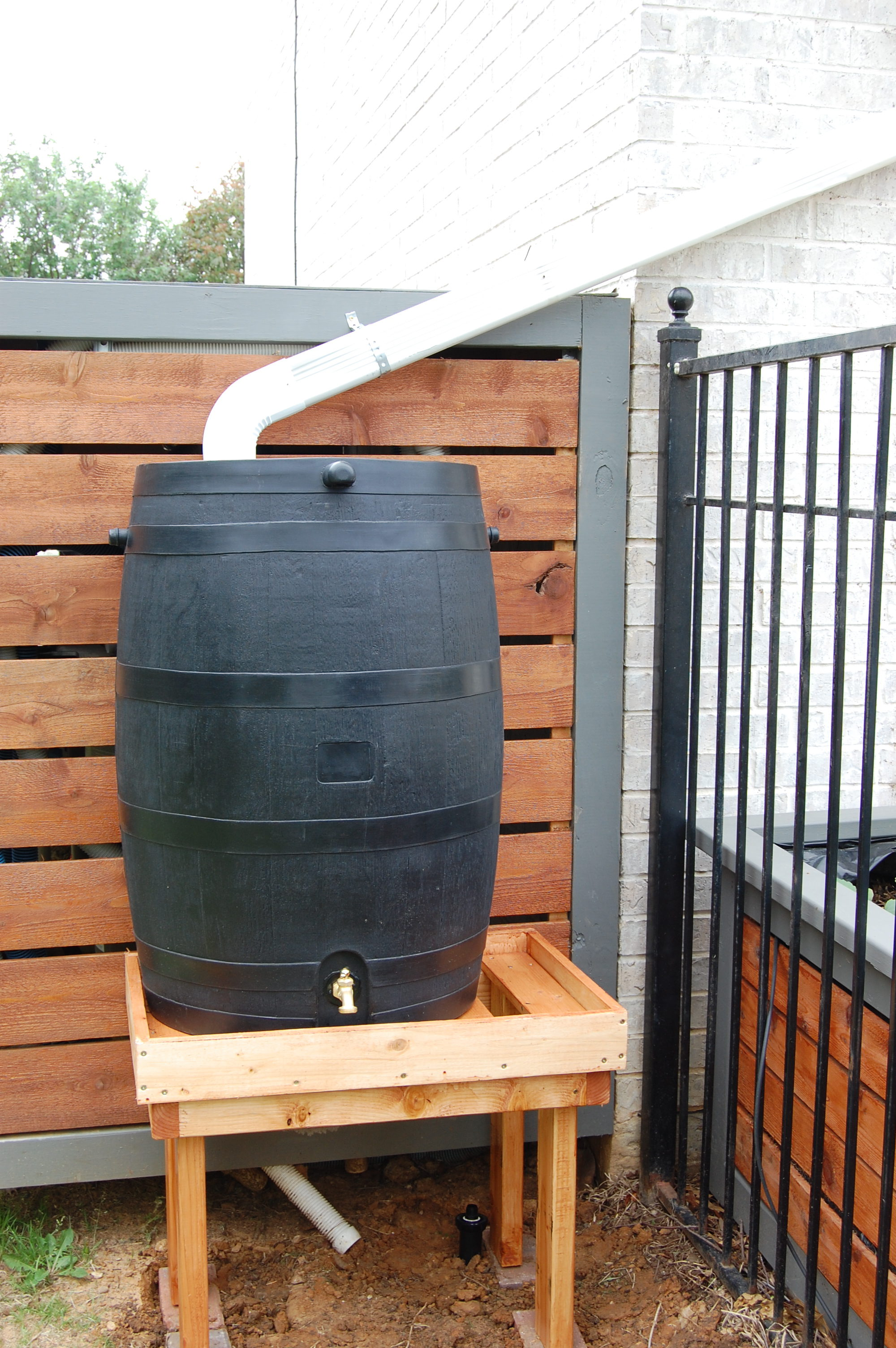 Spring Planting and the addition of Rain Barrels