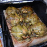 Artichokes on the grill