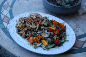 Chicken and Veggies hot off the grill
