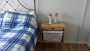 Floating Bedside table made from recycled pallet wood