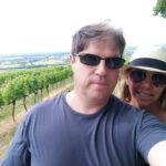 Hinking in the hills and vineyards in Guntramsdorf, Austria