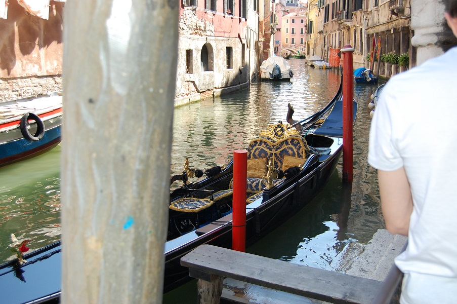Ornate gondola in Venice, Italy