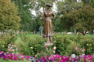 Statue in downtown park Pueblo