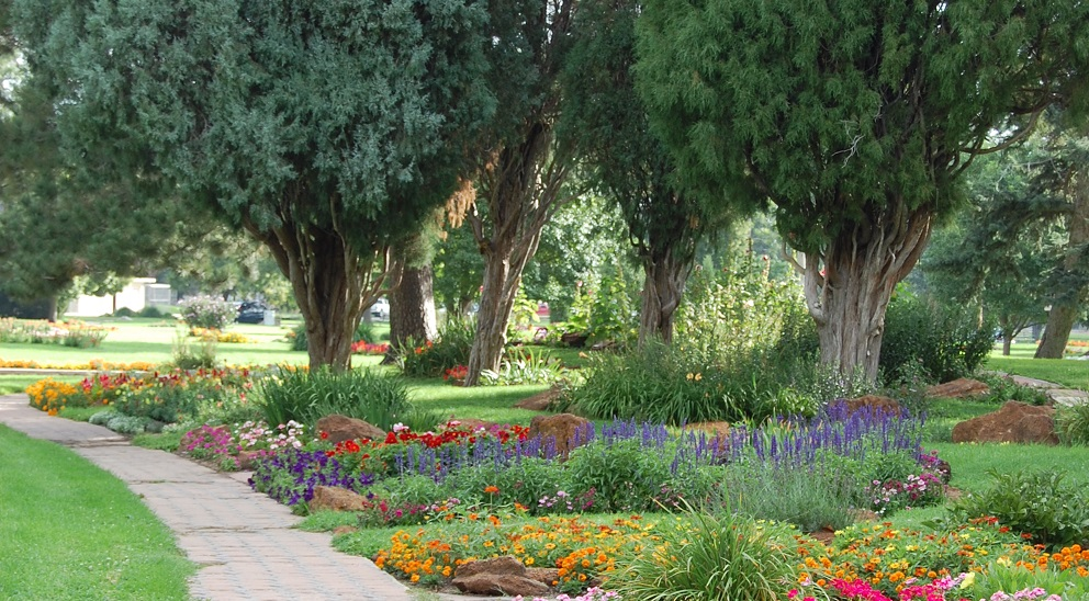 Beautiful downtown gardens of Pueblo