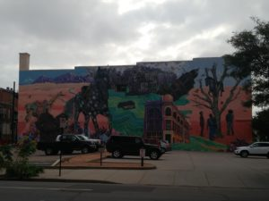 artist's mural in downtown Pueblo