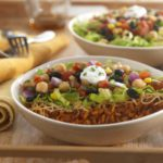 burrito bowl with beans and veggies