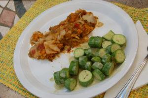 Vegan enchilada scramble