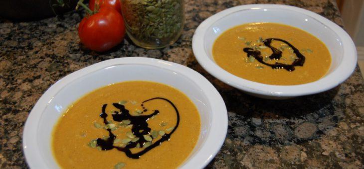 Pumpkin Soup and Peruvian Chicken go Vegan