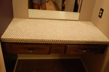 Finished Vanity now tiled
