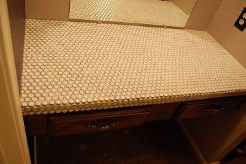 tiled vanity