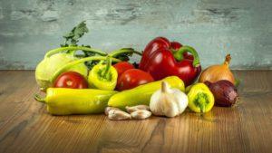 fresh yummy raw vegetables