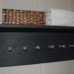 Hand made bathroom storage shelf