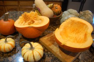 pumkins left over from fall decor