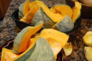 roasted blue pumpkin