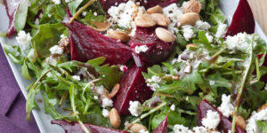 vegan twist on roasted beet salad