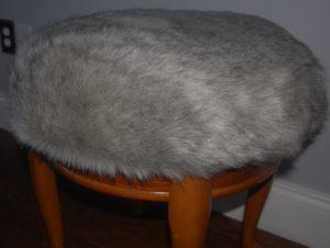 close up vanity stool