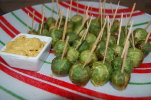 Dry roasted brussel sprouts
