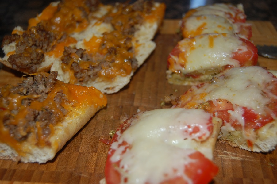 Quick openfaced sandwiches made with leftovers