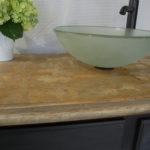 Fnished concrete vanity