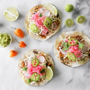 Fish tacos with slaw