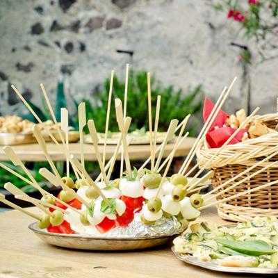 Mozzarella Olive Tomato Kabob