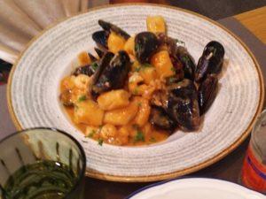 Seafood gnochi at Roco