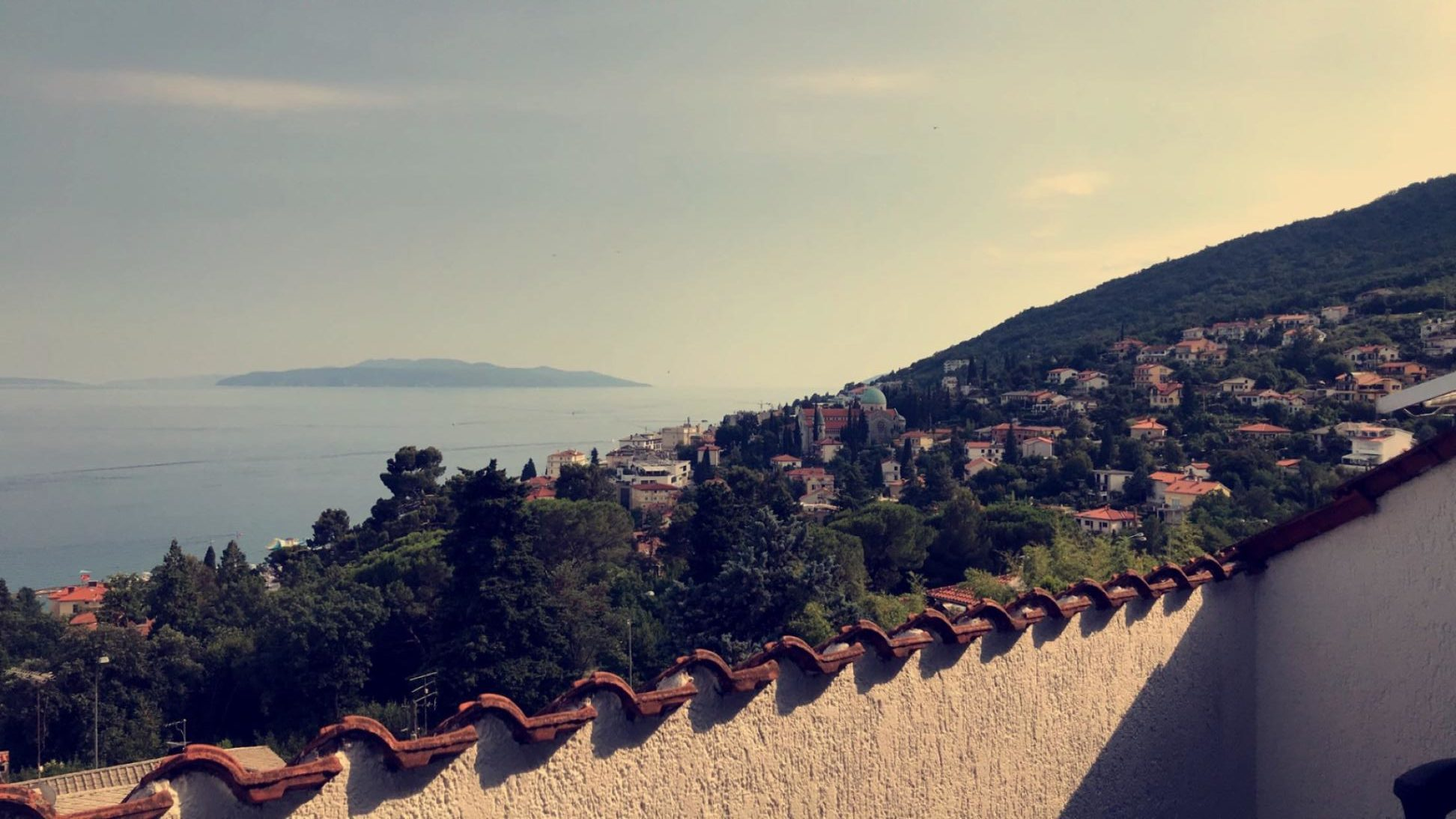 View from Opatija Airbnb