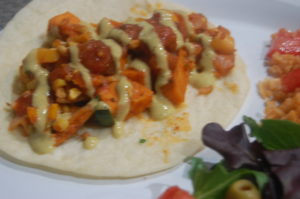 Veggie Tacos Plated