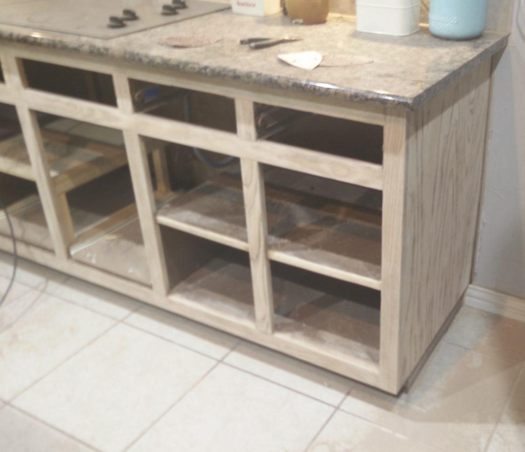 raw oak cabinet