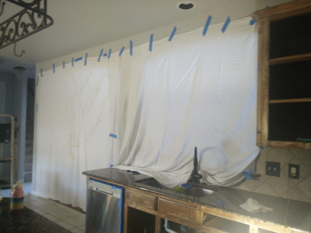 Prepping for sanding