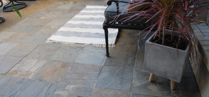 Slate Patio Makeover