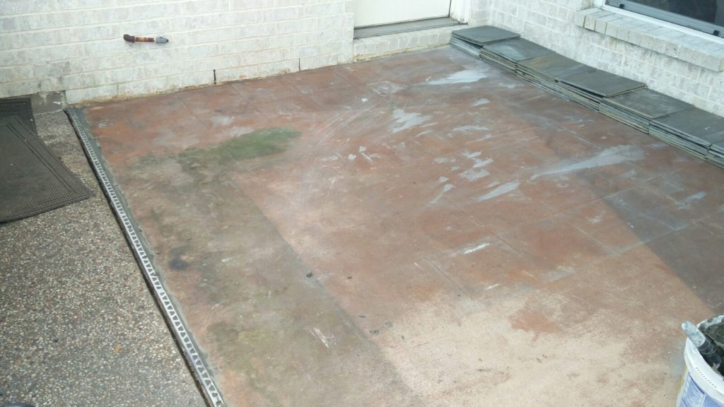 Old concrete patio