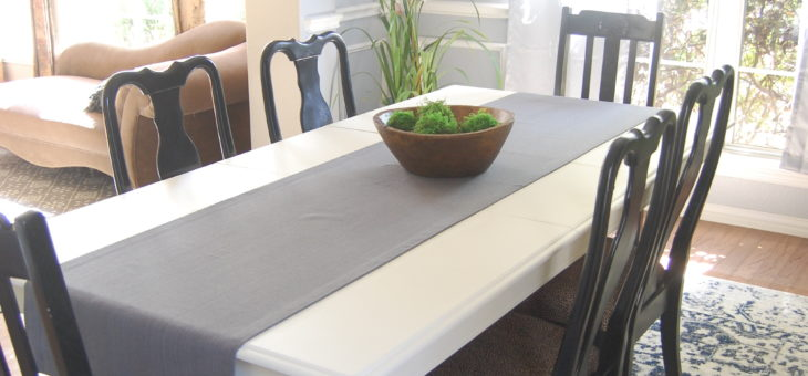 Dining Table MakeOver – from boring brown to WOW in a few hours!