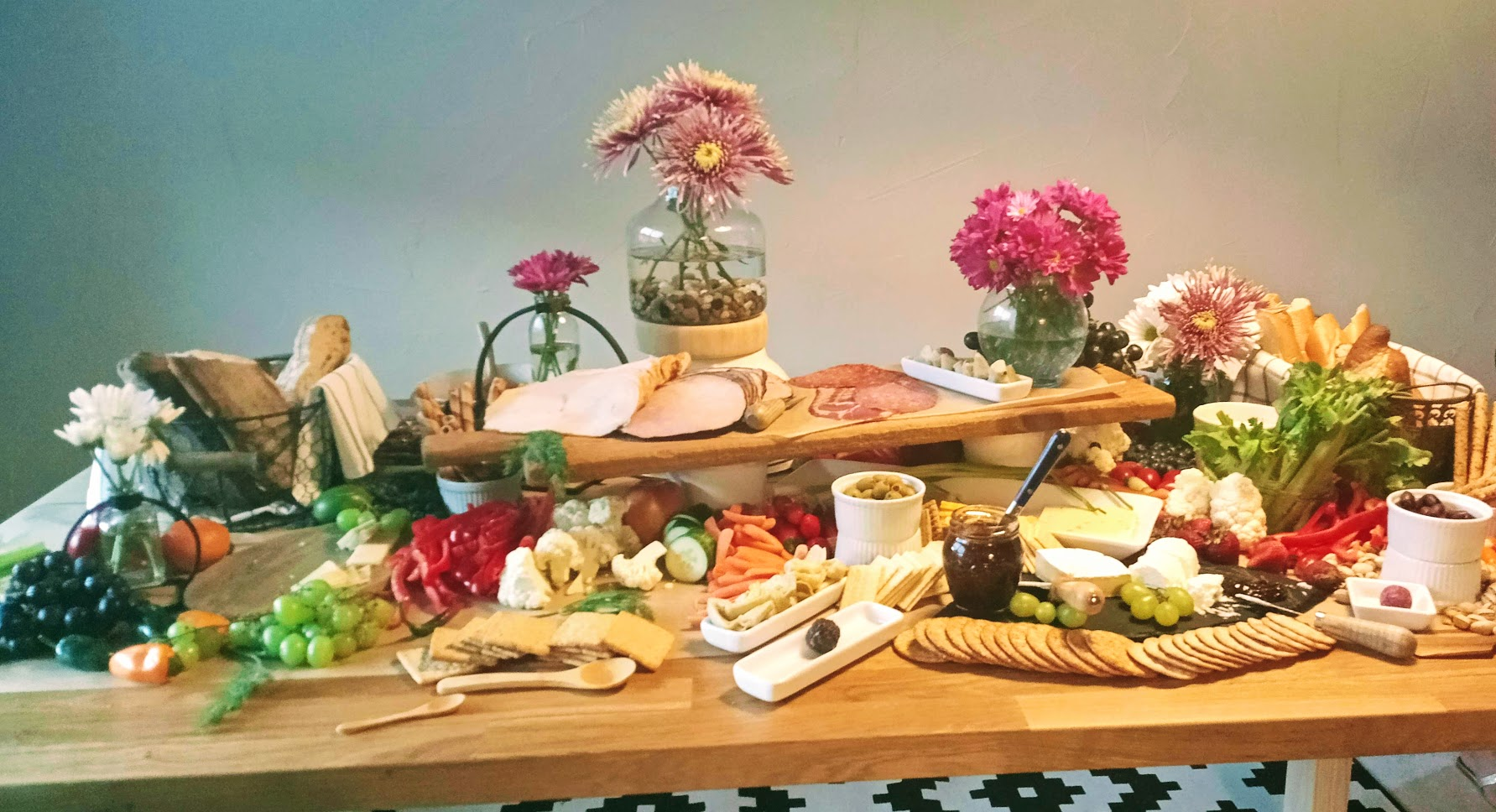 Try a Grazing Table at your next party - Beautiful, delicious and Easy!