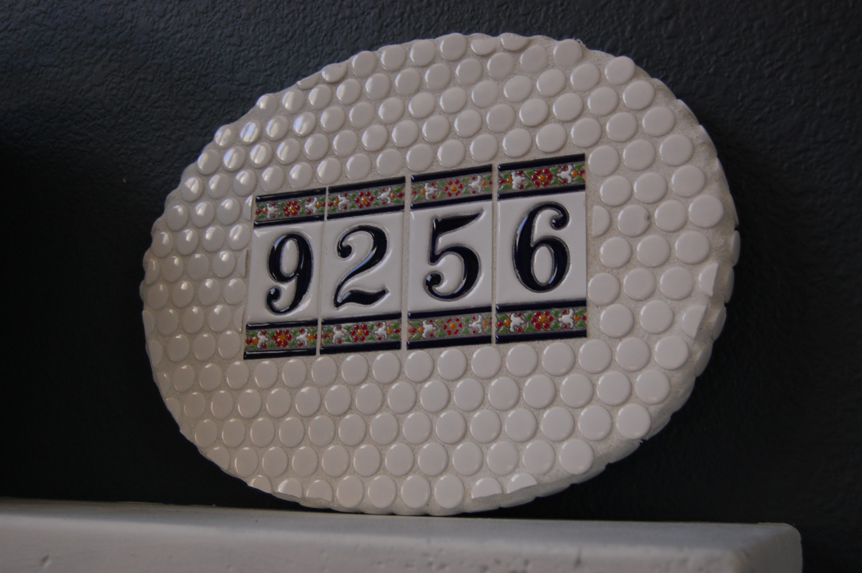 Spanish Tile House Number Plaque