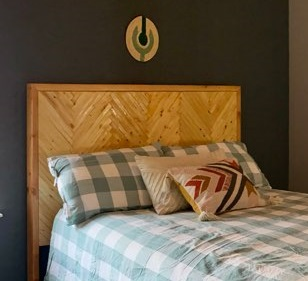Modern Bohemian Headboard made with Shims